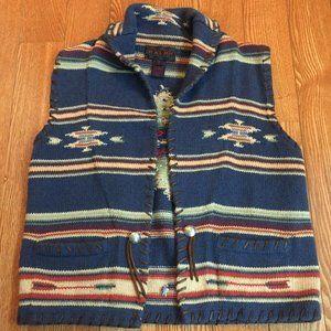 Ralph Lauren Navajo Native Indian Vintage Vest